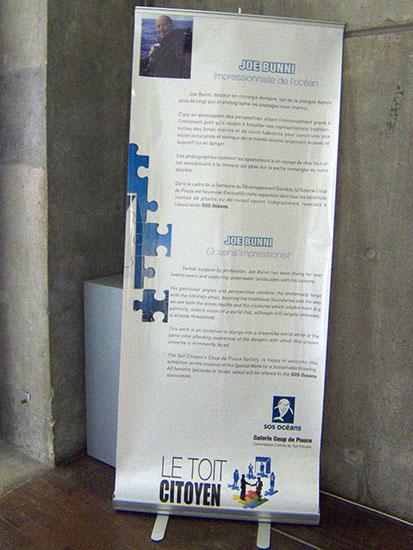Le toit Citoyen, Arche de la Défense, avril 2009