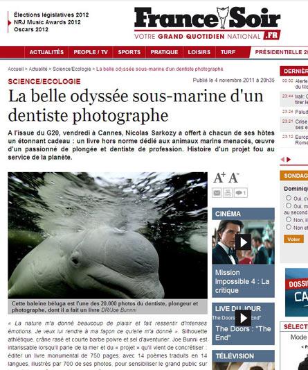 France Soir.fr - La belle odyssée sous-marine d'un dentiste photographe