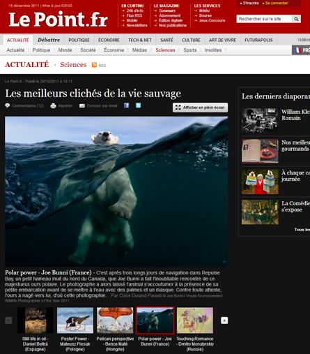Le Point.fr - Les meilleurs clichés de la vie sauvage