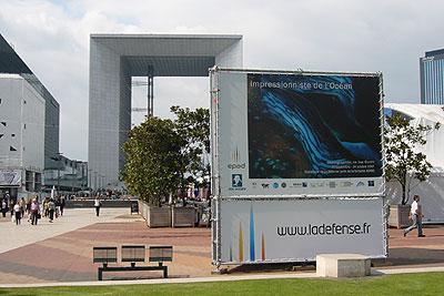 Exposition «Impressionniste de l'océan», Parvis de la Défense